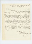 1863-05-04  Lieutenant E.S. Wardwell requests papers and authority for Orderly Sergeant Francis E. Wardwell to recruit men from the 28th Maine Regiment for the 1st Maine Heavy Artillery