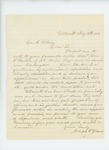1863-05-18  Joseph T. Grant recommends William T. Parker for promotion