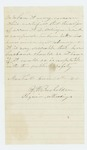 1863-06-30  Dr. B.H. Bachelder requests a discharge for Oren Sidelinger due to the illness of his wife