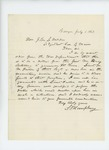 1863-07-01  S.F. Humphrey recommends Lieutenant M.M. Fuller for garrison at Fort Knox