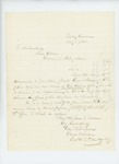 1863-07-05  George W. Sabine recommends Private George Brewer for promotion to Lieutenant
