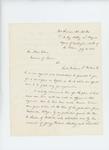 1863-07-20  Lieutenant Colonel Thomas H. Talbot recommends Lieutenant William Parker for promotion