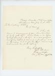 1863-07-20  Colonel Daniel Chaplin recommends Lieutenant William Parker for promotion