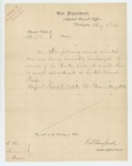 1863-08-07  Special Order 351 discharging Corporal Frank W. Webster to enable him to accept appointment in the USCT