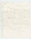 1863-08-27  Charles Davis inquires about a bounty payment due a soldier in Company I