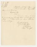 1863-08-31  Lieutenant and Adjutant Stephen C. Talbot forwards the July 1863 Monthly Return