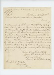 1863-09-18  Lieutenant James W. Clark, Company E, requests a copy of his commission