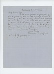 1863-10-08  Freeman Bradford requests information on the death of Captain Roscoe F. Hersey