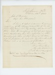 1863-10-31  Lieutenant M.M. Fuller  and Lieutenant Thomas Palmer report the condition of Company L and those at Fort Knox