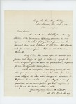 1863-11-07  Lieutenant Colonel Thomas H. Talbot requests commissions from Maine, Maryland, Virginia, Washington DC, and