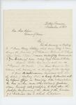 1863-11-15  Major George W. Sabine recommends Orderly Sergeant Gershom Bibber for promotion