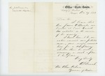 1863-11-27  A.S. French recommends Reverend James O. Knowles of East Corinth for chaplain