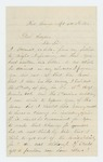 1863-12-06  Charles W. Lunt writes General Hodsdon requesting a change in his duties