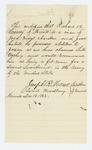 1863-12-16  Joseph R. Mears and Israel Woodbury of Morrill recommend Richard B. Creasey for lieutenant