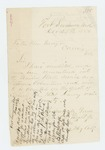 1863-12-25  Daniel O. Wight, Jr. informs the mayor of Calais that he has re-enlisted and is due the city bounty