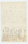 1863-12-25  Charles W. Olmstead wishes to be counted in the quota from Old Town
