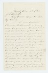 1863-12-28  J. Parkhurst writes Adjutant General Hodsdon regarding the enlistment of Phineas V. Bennett of Unity