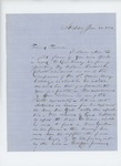 1864-01-12  Mr. Roberts writes Mr. Farwell requesting the appointment of his nephew Cassius Roberts