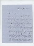 1864-01-12  Mr. Roberts writes Governor Cony requesting the appointment of his nephew Cassius C. Roberts