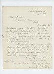 1864-01-13  Lieutenant F. Shaw requests that John Fisher be credited on the Pembroke quota