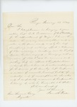 1864-01-13  James B. Fiske recommends Captain C. Crossman for promotion