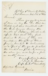 1864-02-04  Captain Frederic Howes inquires about bounty payments for his men in Company G