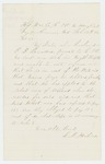 1864-02-17  L.D. Perkins writes on behalf of wife of C.D. Saunders, who is in need of state aid
