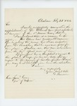 1864-02-22  G.P. Sewall recommends appointment of Dr. Jerome Elkins as surgeon