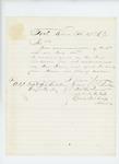 1864-02-23  Lieutenant Thomas Palmer writes regarding bounty payments for David Clendenin