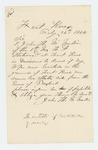 1864-02-26  John H. McMullin inquires about state aid for his wife