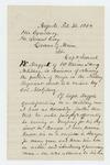 1864-02-26  John E. Godfrey writes regarding a promotion for Samuel W. Daggett