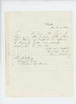 1864-03-09  Mr. Bradbury recommends Sergeant Swett for promotion