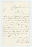 1864-03-11  Dr. H.A. Reynolds requests a position as Assistant Surgeon