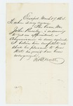 1864-03-17  Mr. Nutt recommends John Presley for commission