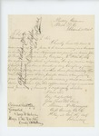 1864-03-23  Captain William R. Pattangall recommends promotion of John Presley