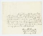 1864-03-24  Captain Samuel Daggett recommends a commission for Corporal Edward L. Worcester