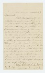 1864-03-25  Corporal Edward Worcester requests a commission from his uncle