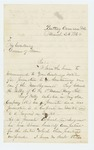 1864-03-26  Colonel Chaplin recommends Edward Kilby for promotion