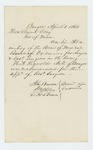 1864-04-01  John Benson of the Board of Medical Examiners recommends Dr. H.A. Reynolds for assistant surgeon