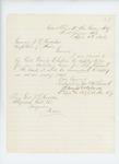1864-04-06  Lieutenant and Adjutant James W. Clark requests an Artillery Color [flag]