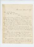 1864-04-08 Ephraim K. Smart, J.W. McMahon, and John J. Sherman, Selectmen of Pembroke, write Adjutant General Hodsdon regarding recruits