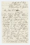 1864-04-12  Sergeant Charles E. Wilson, 1st NY Mounted Rifles, requests favor of General John Hodsdon