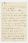 1864-04-12  Catherine Driscoll requests husband's enlistment and muster papers