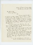 1864-04-21  Lieutenant Colonel Thomas H. Talbot requests position as Colonel