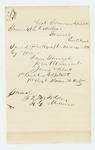 1864-04-24  Lieutenant and Adjutant James W. Clark forwards his photograph to Adjutant General Hodsdon