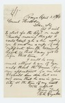 1864-04-25  H.A. Reynolds requests his examining board certificate and thanks the Governor for his appointment