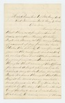 1864-05-02  John L. Robinson inquires about a new artillery regiment to be raised