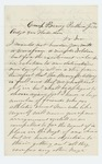 1864-06-15  John L. Robinson inquires about the formation of a new company