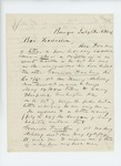 1864-07-18  C.P. Brown writes on behalf of Asa Dunham, inquiring about the fate of his remaining son Granville, reported dead of wounds