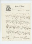 1864-08-08  John Kimball requests that Private John Hall's furlough be extended due to illness